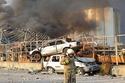 مركبات تضررت من الحادث الأليم في بيروت