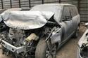 سيارة عمرو أديب تعرضت لأضرار كبيرة في الواجهة الأمامية