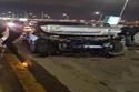سيارة عمرو أديب في موقع الحادث