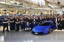2- لمبرجيني تحتفل بإنتاج 9,000 سيارة هوراكان