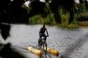 جولة بالدراجة على سطح نهر النيل
