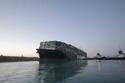 سفينة إيفر غيفن بعد تعويمها