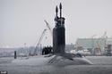 الغواصة الجديدة التي قدمتها ميشيل أوباما للبحرية الأمريكية