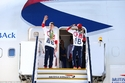 الطائرة التي أقلت الفريق الأوليمبي البريطاني