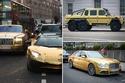 صور وفيديو ثري سعودي يشعل لندن بسياراته الذهبية!