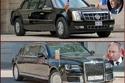 مقارنة بين سيارات الرئاسة لدونالد ترامب وفلاديمير بوتين! سيارات مخيفة