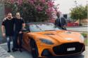 هاني سعد رفقة أصدقائه وسيارة أستون مارتن