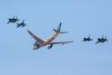 قامت قوات الصقور السعودية للاستعراضات الجوية بعرض أسطوري