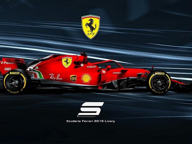 فيراري تطلق سيارتها الجديدة لسباقات الفورمولا 1