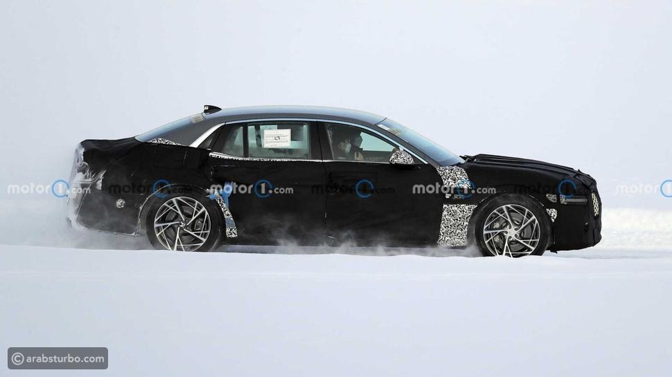 الجيل الجديد من جينيسيس G90 يظهر في اختبارات على الجليد