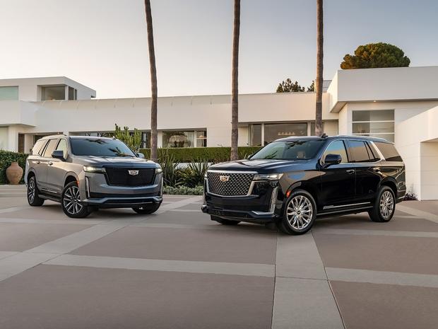 2021 Cadillac Escalade - Premium Luxury (Right) and Sport (left)