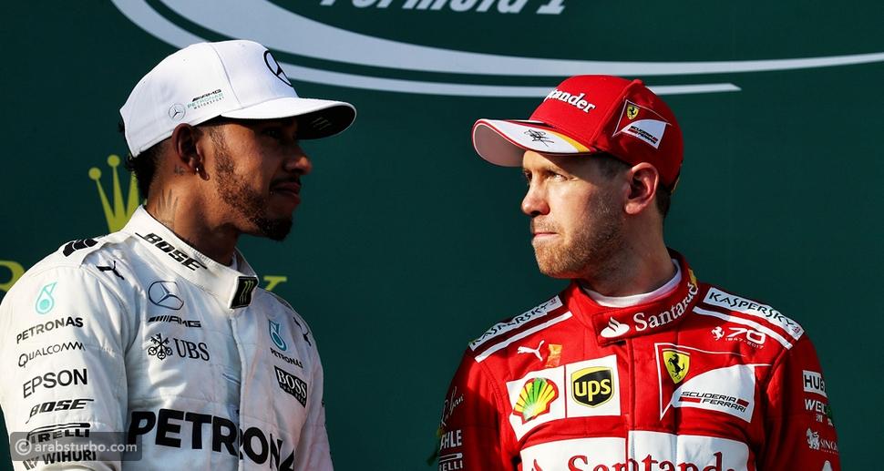 صراع جديد بين هاميلتون وفيتل على لقب الفورمولا 1