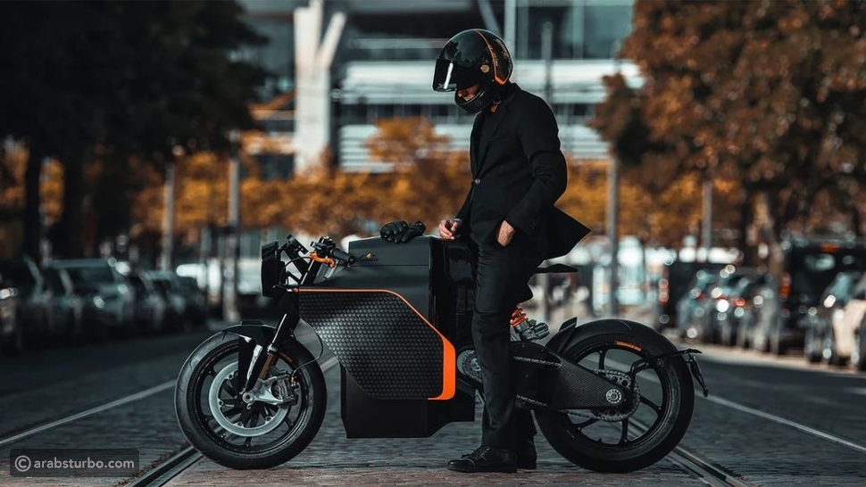بالصور: دراجة نارية بنظام دفع كهربائي