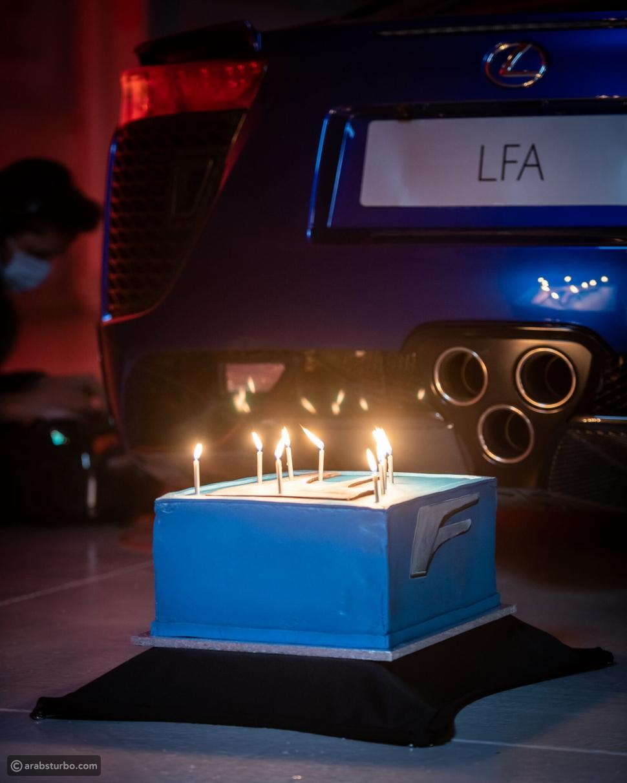 لكزس تحتفل بمرور 10 سنوات على إطلاق LFA الخارقة