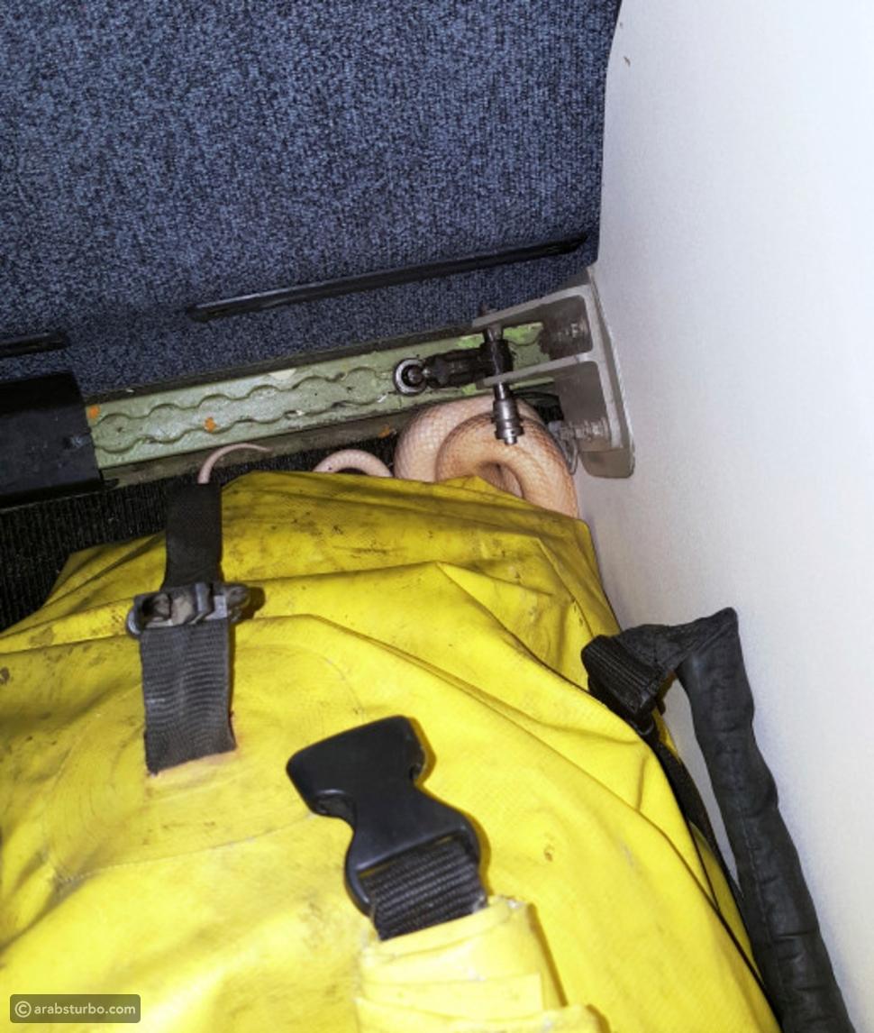 ذعر على طائرة ركاب بعد العثور على ثعبان بداخلها