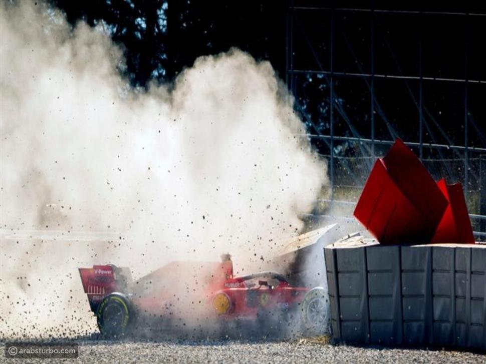 فيراري تعلن عن أسباب حادث فيتيل بفورمولا 1
