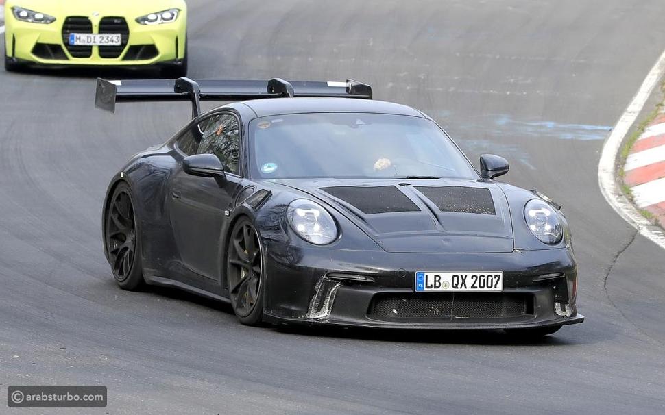 ظهور بورشه 911 GT3 RS في صور تجسسية جديدة