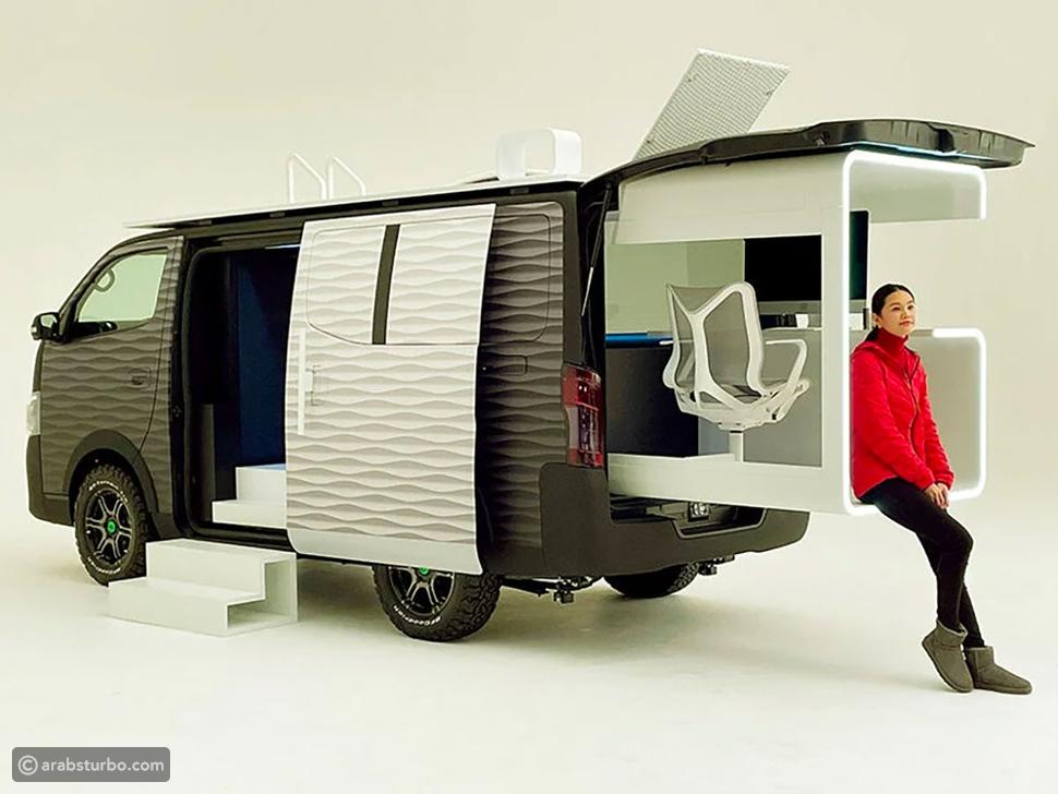 نيسان تنتج سيارة تتحول إلى مكتب متنقل لقهر كورونا