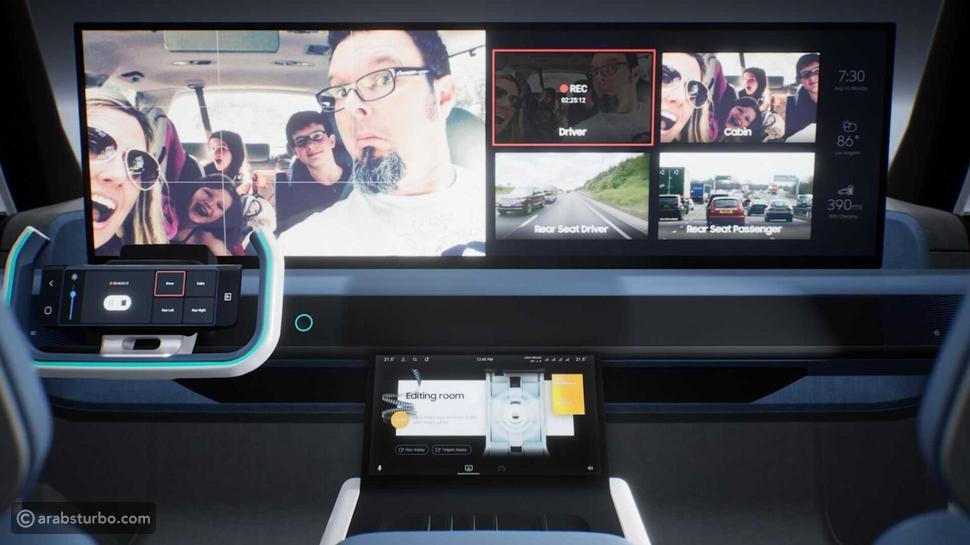 سامسونج تكشف عن تصاميم مستقبلية لداخلية السيارات