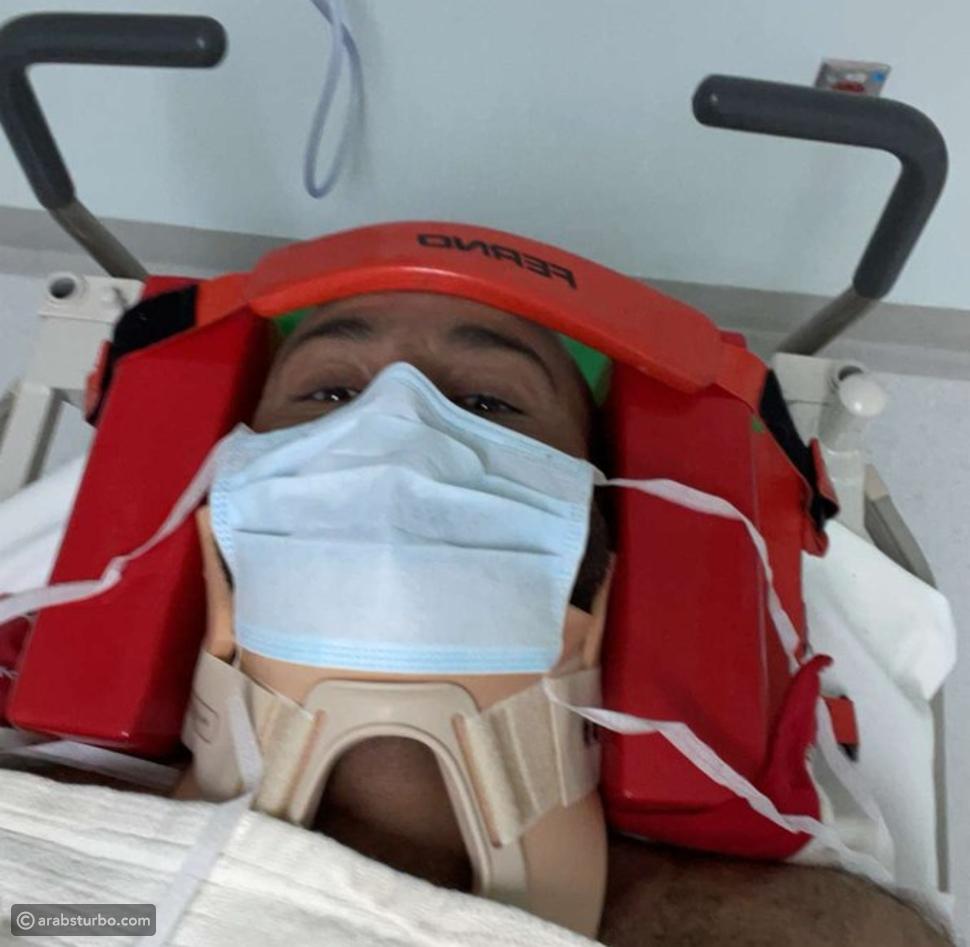 بالفيديو من داخل المشفى: الظهور الأول ليزيد الراجحي بعد الحادث