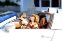 صور ارنولد شوارزينيجر يتجول بسيارته بوغاتي فيرون في كاليفورنيا