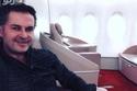 صورة: راغب علامة ينشر صورة له من داخل الطائرة