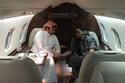صورة لأحلام وزوجها داخل طائرتها الخاصة